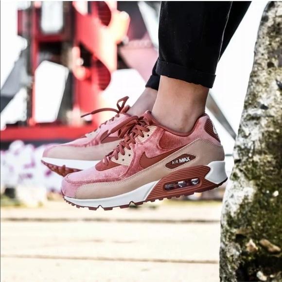 Women's Nike Air Max 90 LX Velvet Sneakers NWT